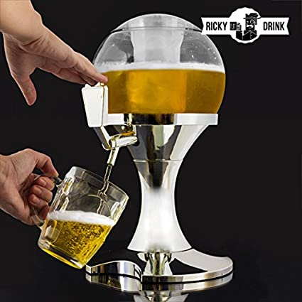 qtimber Dispensador de Cerveza Chill Beer Ball 26 x 29 x 29 cm dispenser di bibite