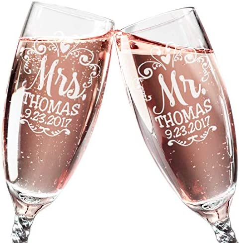 Reception Celebration Champagne Anniversary Personalized