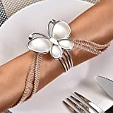 Foerteng 12PCS Napkin Ring Resin Butterfly Hotel Wedding Supplies