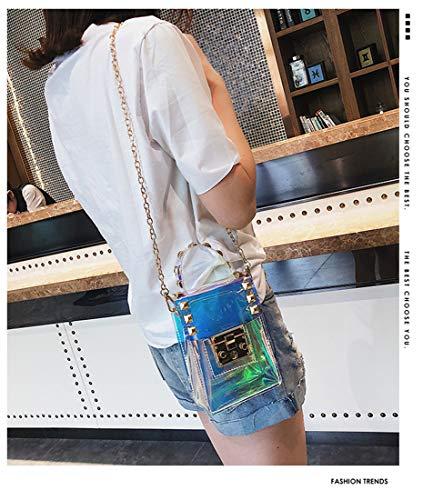 Storage Marchome Purse Cellphone Hologram Hologram Crossbody Shoulder 1 Money Bag Card Transparent TAO4nrAX