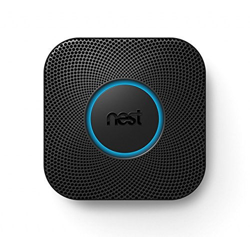 Nest Protect 2Nd Generation Wired   Nest Protect 2nd Gen Smoke Carbon Monoxide Alarm Wired Black