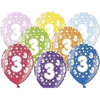 Partydeco Globo, 3.º cumpleaños, varios colores