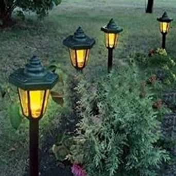 solar power led outdoor garden pathway plug in lawn light