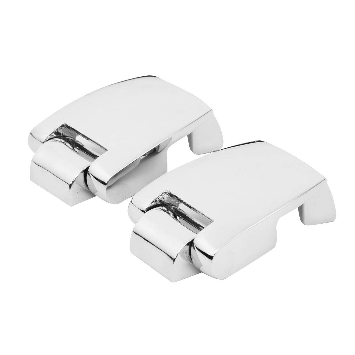 XMT-MOTO Tour-Pak Hinges fits for Harley Davidson Touring and Trike Models Equipped with Razor-Pak Chopped or King Tour-Pak Luggage 1988-2013,Mirror-Chrome Finish,Sold as Pairs