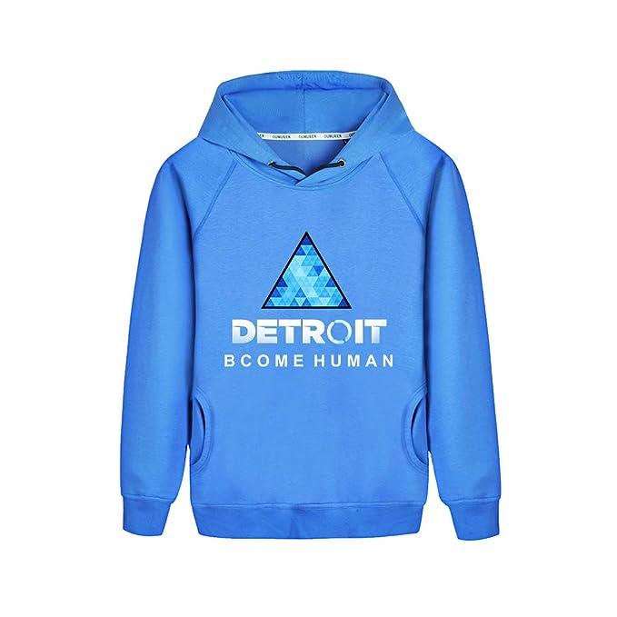 Unisex Detroit Become Human Caída Invierno Ocasionales Estampados Hoodie Sudaderas Moda Cómodo Hoodie Sueter para Hombre y Mujer: Amazon.es: Ropa y ...