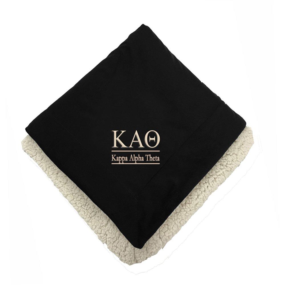 Kappa Alpha Theta Sherpa Throw Blanket B01MQCDRAH
