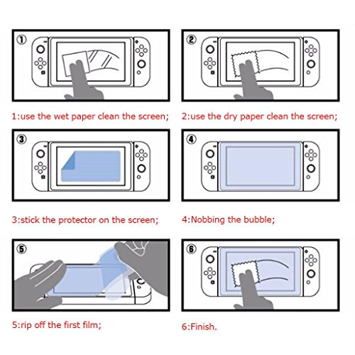 Vanvler Tempered glass Screen Protector Film Guard Sheet for Nintendo Switch Console Clear (2PCS) by Vanvler (Image #6)