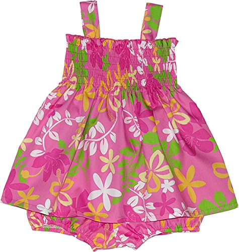 RJC Girls Hibiscus Natal Plum Bungee Tube Top 2pc Set PINK 6 Months by RJC