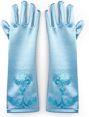 Katara 1098 - Guantes de Princesa - Accessorio de Disfraz Halloween, Carnaval, Cumpleaños - Niñas de 2-9 Años, Azul