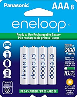 Panasonic BK-4MCCA8BA eneloop 8 Pack (AAA) 2100 Cycle NiMH Cell (B00JHKSMIG) | Amazon Products
