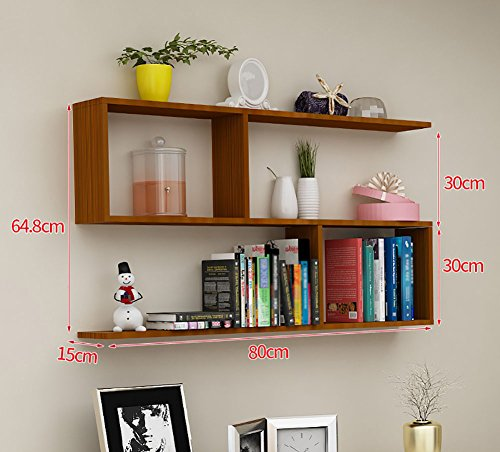 Used, Wall Bookshelf Wood S Shaped Floating Display Shelf for sale  Delivered anywhere in Canada