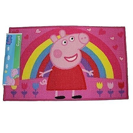 Wondrous New Peppa Pig Rainbow Floral Hearts Print Rectangular Bedroom Carpet Door Rug Floor Mat 50X80Cm Interior Design Ideas Tzicisoteloinfo