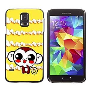 Be Good Phone Accessory // Dura Cáscara cubierta Protectora Caso Carcasa Funda de Protección para Samsung Galaxy S5 SM-G900 // Cute Monkey Laugh