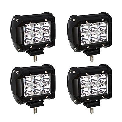 DakRide 4 inch LED Pods Spot Beam Work Light Bar For Off Road 4X4 4WD Car Jeep Pickup Truck Boat Golf Cart SUV Van ATV UTV Tractor Lamp Driving Fog Light Rock and Bumper Light 4PCS