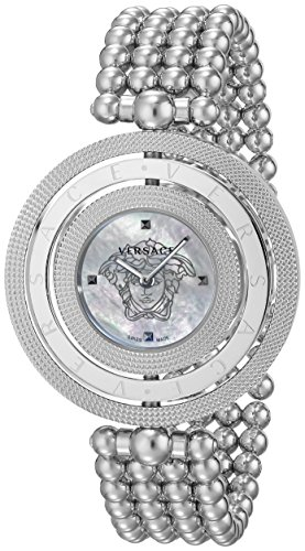 Versace Women's VQT070015 Eon Analog Display Quartz Silver-Tone Watch