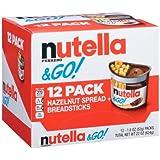 Nutella Ferrero Go Hazelnut Spread and Breadsticks 22oz ( 12 packs )