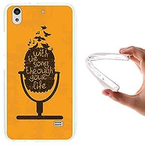 Funda Huawei Ascend G620S, WoowCase [ Huawei Ascend G620S ] Funda Silicona Gel Flexible Micrófono, Carcasa Case TPU Silicona - Transparente