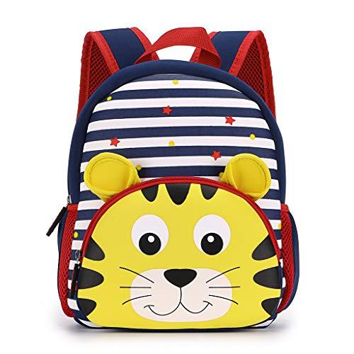 Hipiwe Toddler Backpack for Little Kids Water Resistance Kindergarten Preschool Bags Neoprene Children Schoolbag Cute Animal Cartoon Backpacks for Baby Boys Girls ()