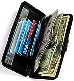 RFID Blocking Large Aluminum Wallet w/Mirror $10.99 for 2pc -Leopard+Zebra