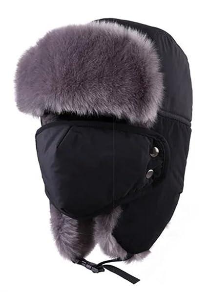 a0162a80b Eleter Outdoor Winter Waterproof Trapper Hat Ushanka Russian Hat With Ear  Flap Mask