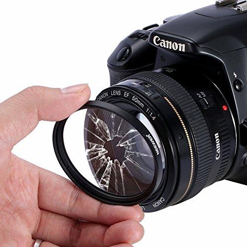 Neewer Lens Filter Kit: UV, CPL, FLD, ND2, ND4, ND8 and Lens Hood, Lens Cap