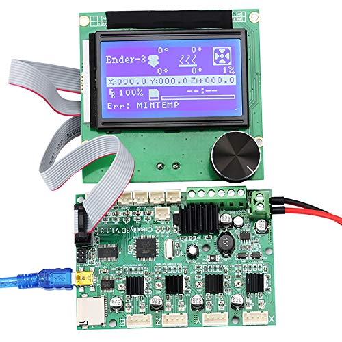 zzpopGG Printer Control Panel Display kit,24V 3D Printer Controller Mainboard Motherboard + 12864 LCD Display for Ender-3