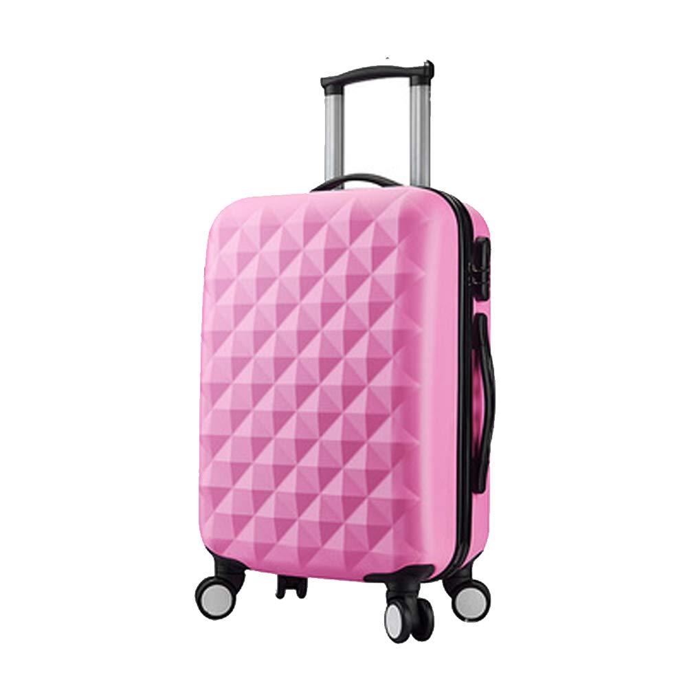 荷物、トロリーケース、荷物ケース、ユニバーサルホイール搭乗、ビジネストロリーケース、トラベルケース、-Pink-M Medium Pink B07R71D6K1