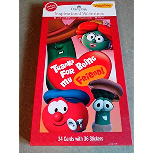 Card - Boxed - Valentine's Day - Veggie Tales w/ Stickers (Child) (32 Pack) Sales