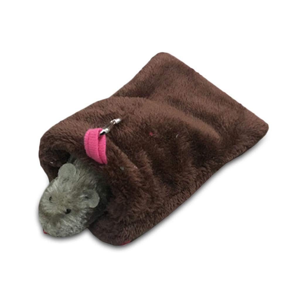KOBWA Inverno Caldo Peluche Letto Nido casa Amaca appesa per Pet Syrian Hamster Gerbil Rat Mouse Scoiattolo cincillà cavia Piccolo Animale Gabbia Giocattolo