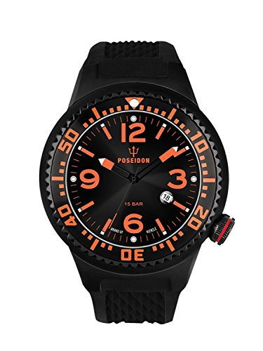 Kienzle Poseidon Men's L Slim Watch - Black & Orange