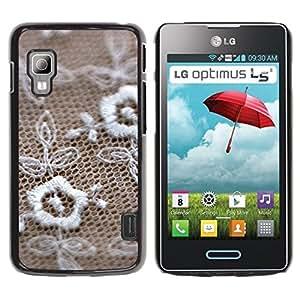 TopCaseStore / la caja del caucho duro de la cubierta de protección de la piel - Jewelry texture - LG Optimus L5 II Dual E455 E460