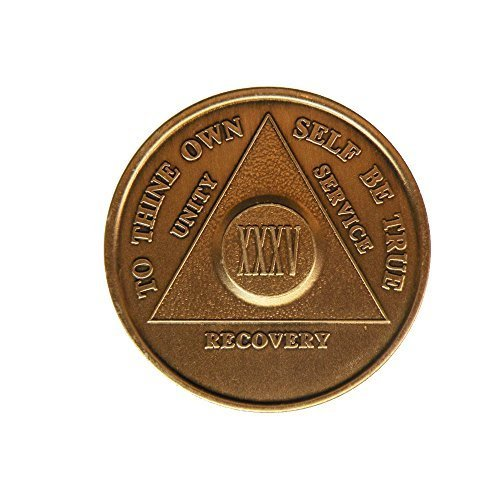35 Year Bronze AA (Alcoholics Anonymous) - Sober / Sobriety / Birthday / Anniversary / Recovery / Medallion / Coin / Chip by Generic