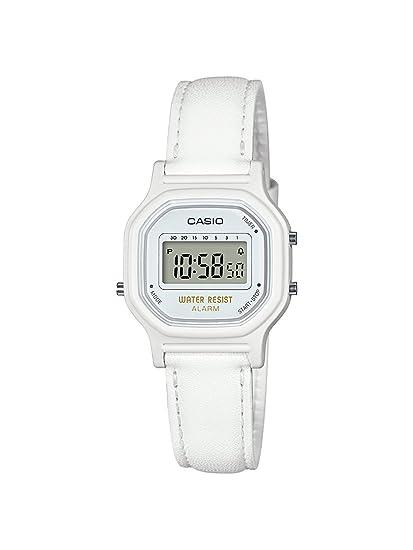 Casio - Reloj de cuarzo clásico para mujer de resina, color blanco (modelo: