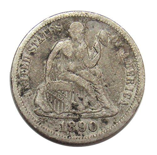 1890 Seated Liberty Dime 10¢ Good