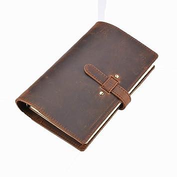 YWHY Cuaderno Cuaderno De Cuero Agenda De Viaje Agenda De ...