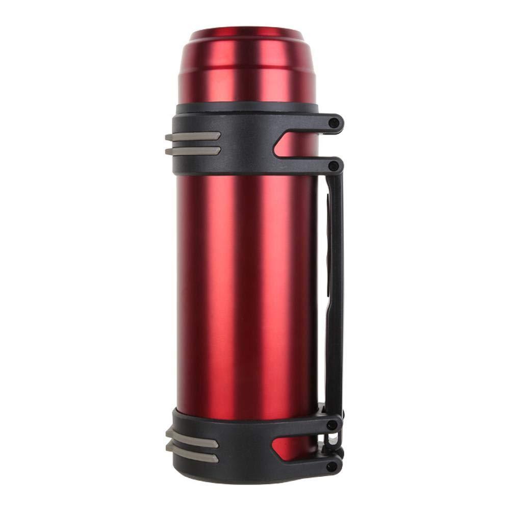 Olydmsky Travel Mug,Outdoor Bergsteigen heißes Wasser Flasche gerade Tassen mit Griff aus rostfreiem Stahl Isolierung 12-24 Stunden