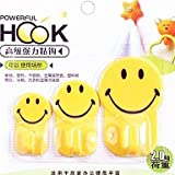 QINF 3 PCS Multifunctional Smile Lovely Family Hook(Random Color)