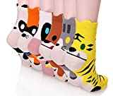 Dosoni Girl Cartoon Animal Cute Casual Cotton Novelty Crew socks 6 packs-Gift Idea