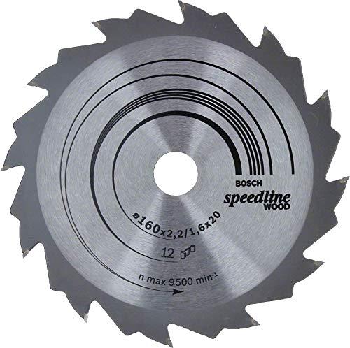 Bosch 2 608 640 786 Hoja de sierra circular Speedline Wood 160 x 20 x 2,2 mm//1,6 mm