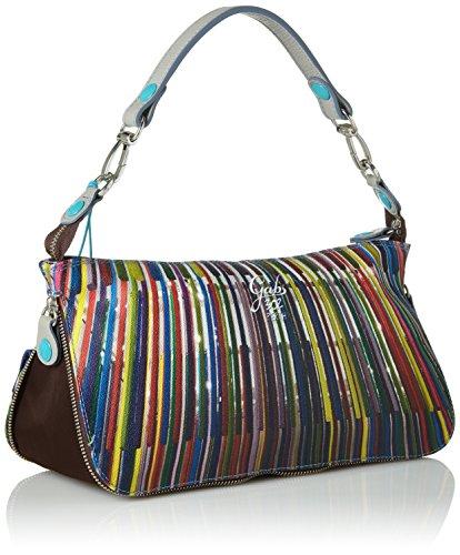 Gabs - Elena Tg S Pochette Trasf Studio Print vela Borsa Donna Multicolore 302 Bacchette