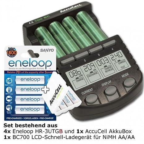 Technoline BC 700 Batería-cargador con 4 x eneloop HR-3UTG y ...