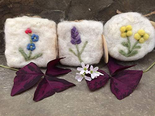 Flower Series Wool Scrubbies