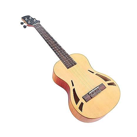 HEALLILY Mini guitarra arce diapasón de palisandro puente 4 ...