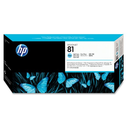 HP 81 (C4954A) Light Cyan Original DesignJet Printhead and Cleaner