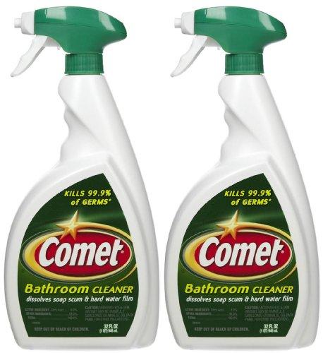 Comet Bathroom Cleaner Spray   32 Oz   2 Pk