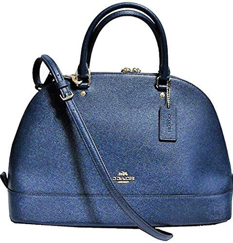 Coach Cross Grain Leather Sierra Satchel Crossbody Bag Pu...