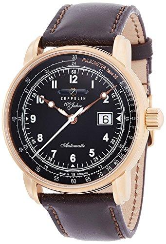 ZEPPELIN 100 anniversary watch anniversary model black dial self-winding 76542 Men's