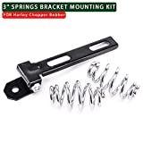 MotorFansClub Black Solo Seat Kit Bracket w/ 3 Inch Barrel Springs For Harley Softail Chopper Bobber Sportster
