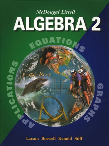 McDougal Littell Algebra 2: Applications, Equations, Graphs -  Holt Mcdougal, Hardcover
