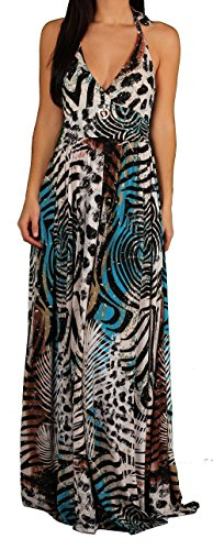 Apple Bottoms Junior Safari Print Halter Dress, Safari, Size (Apple Bottoms Womens Clothing)